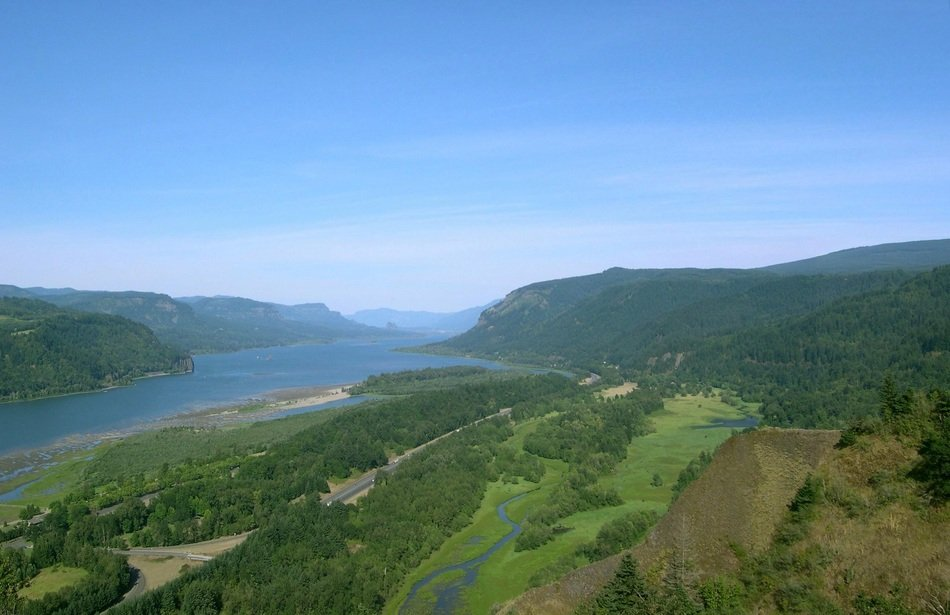 columbia river gorge, beautiful aerial view, usa