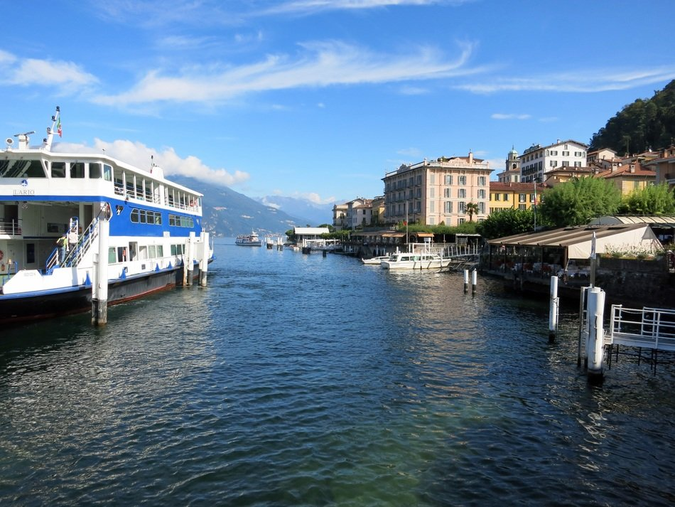 lake como in italy under blue sky