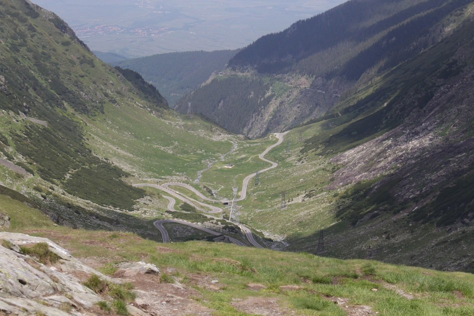panoramic view of the pass in the Carpathians in Romania