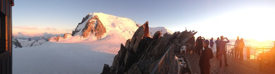 mont blanc snow mountain sunset view