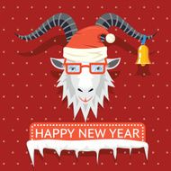 Happy New Year 2015 hipster goat