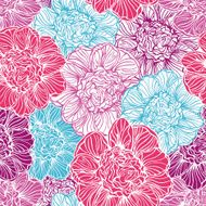 seamless pattern with peonies flowers N2