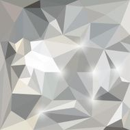Abstract polygonal triangular background with glaring lights for design