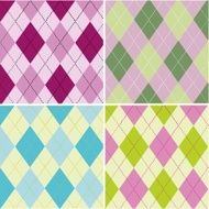 Colorful argyle seamless pattern fabric texture N2