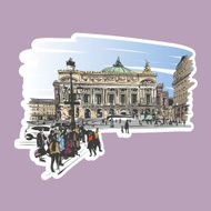 Opera Garnier Paris France Vector illustration N5