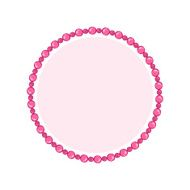 Simple style round jewelry frame template N9