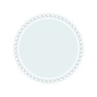 Simple style round jewelry frame template N10