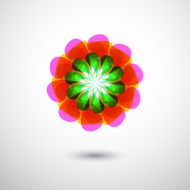 abstract colorful floral icon for design N2