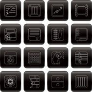 Business Office and Mobile phone icons N4
