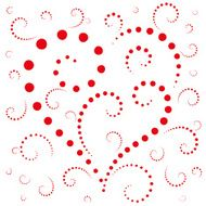 Abstract background the heart of dots on Valentine's day N3