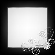 silver jewelry floral frame