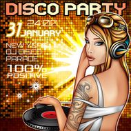DJ Disco party poster