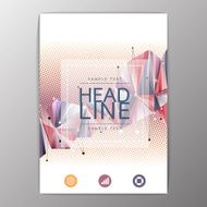 Creative Flyer Brochure Design Templates Layout Geometric Abst