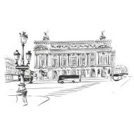 Opera Garnier Paris France Vector illustration N7