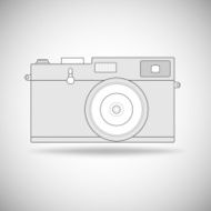 Retro photo camera outline