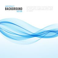 Abstract blue wave isolated on white background N16