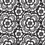 Lace seamless pattern with flowers N155