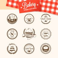 Vintage bakery badges labels and logos N4