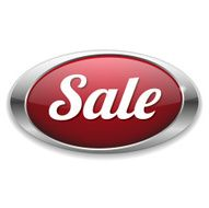 Red oval sale button