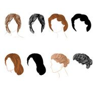 Set hair natural and silhouette