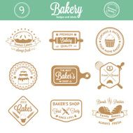 Vintage bakery badges labels and logos N5