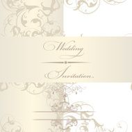 Elegant wedding invitation card N2