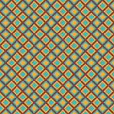 Bright retro seamless pattern with blue and yellow rhomb blocks