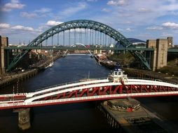 picturesque bridges across tyne river, uk, Newcastle