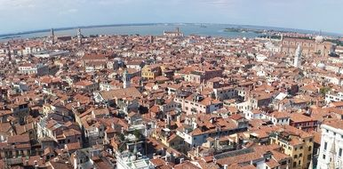 panoramic view of venice on a sunny day