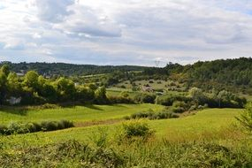 picturesque countryside in Dordogne