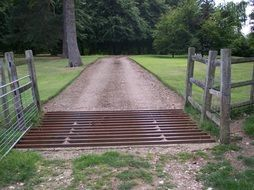 cattle grid in countryside