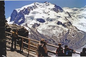 Monte Rosa is a mountain massif located in the eastern part of the Pennine Alps