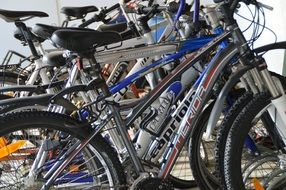 many mountain bikes
