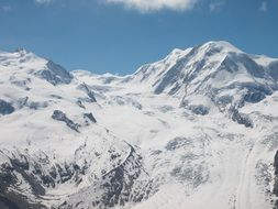 Monte Rosa is a huge ice-covered mountain