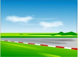 Cartoon colorful racetrack clipart
