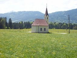 chapel in the foothills of the alps