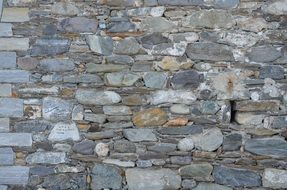 stones wall stone patch