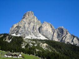 blue sky over dolomites in south tyrol