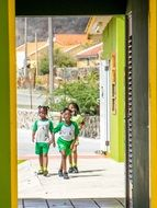 Curacao school students in the uniform
