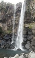 jeju waterfall
