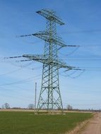 power line of high voltage energy