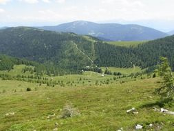 panoramic view of alpine valley