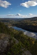 panoramic view of picturesque landscapes in telemark norway