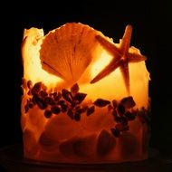 Shells and candlelight