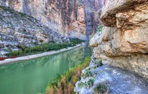 canyon landscape water river