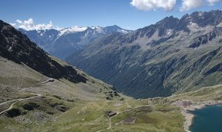 panoramic view of Passo Gavia mountain pass