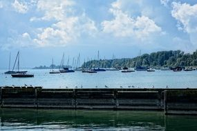 sailing boats in the port of Upper Bavaria