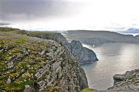 north cape rock water coast norway