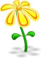 yellow orange flower drawed