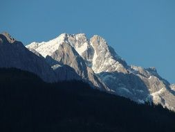 distant view on Zugspitze mountain